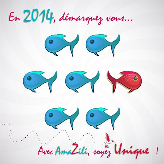Exceptionnel Carte de voeux nouvelle année 2014 de votre agence de  DB54